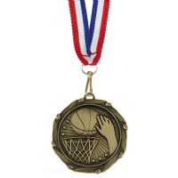 COMBO Basketball Medal with 10mm R/-AM1058.12